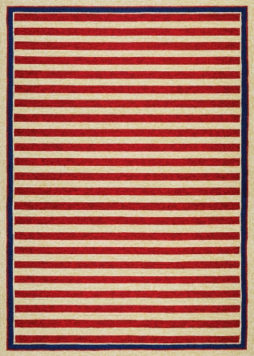 couristan covington nautical stripes red/navy
