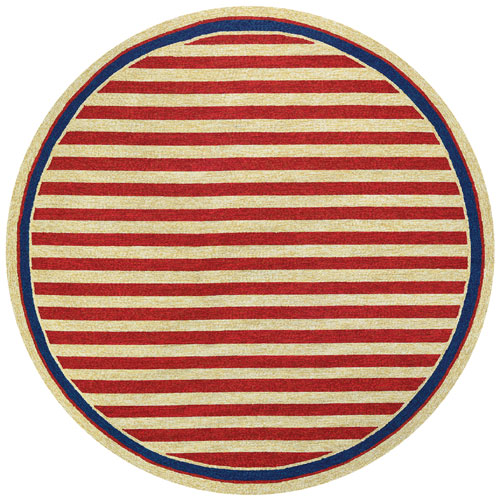 couristan covington nautical stripes red/navy