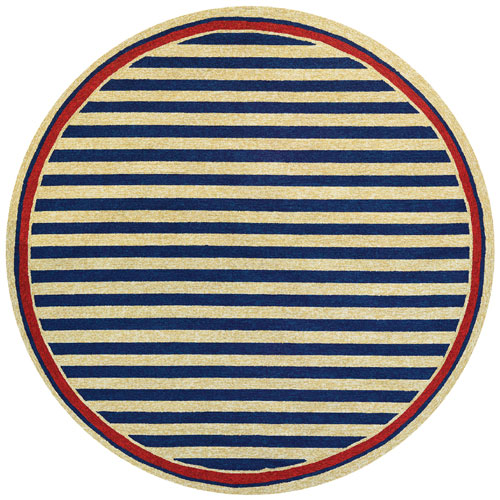 couristan covington nautical stripes navy/red