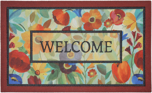 karastan mats doorscapes mat stain glass flowers multi mat