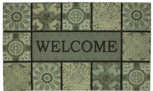 karastan mats doorscapes mat welcome ocean tiles slate multi mat