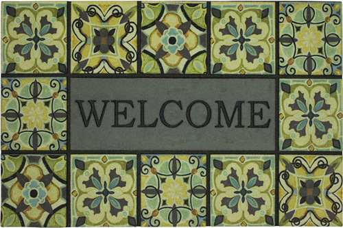 karastan mats doorscapes estate mat welcome bohemian tiles gray multi mat