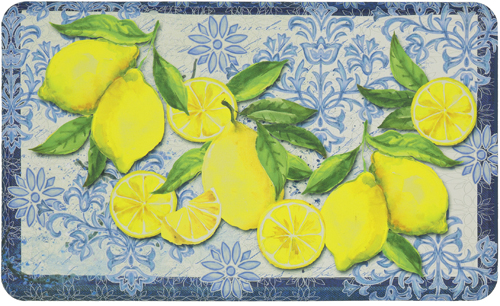 karastan mats dri- pro comfort mat classy italian lemons cream mat