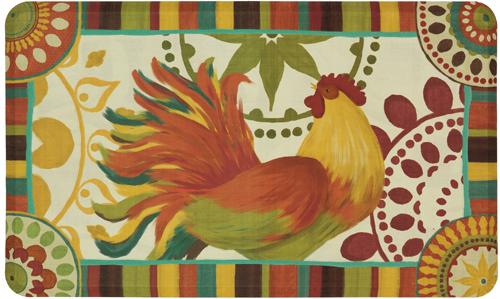 karastan mats dri- pro comfort mat painted spice rooster multi mat