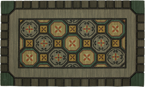 karastan mats doorscapes mat mexicali tiles multi mat
