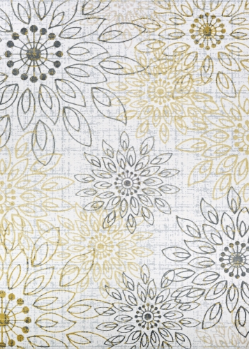 couristan calinda summer bliss gold/silver/ivry