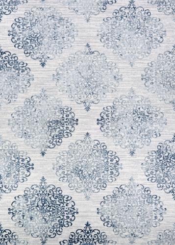 couristan calinda montebello steel blue/ivory