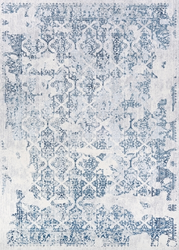 couristan calinda grand damask steel blue/ivory