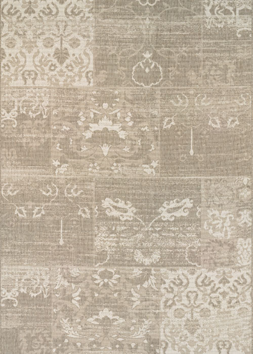 couristan afuera country cottage beige/ivory