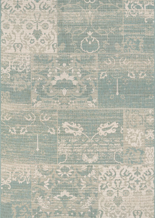 couristan afuera country cottage sea mist/ivory