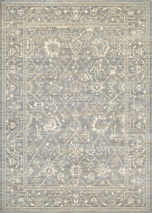 couristan everest persian arabesque charcoal/ivory