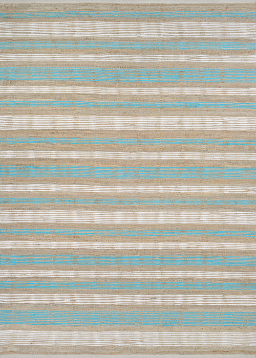 couristan nature's elements awning stripes straw/artic blue/white