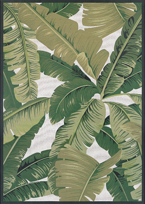 couristan dolce palm lily huntrgreen/ivory