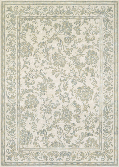 Couristan Grey Cream Rug Provincia Leilani The Rug Corner