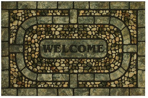 karastan mats doorscapes estate mat welcome garden pebbles gray multi mat