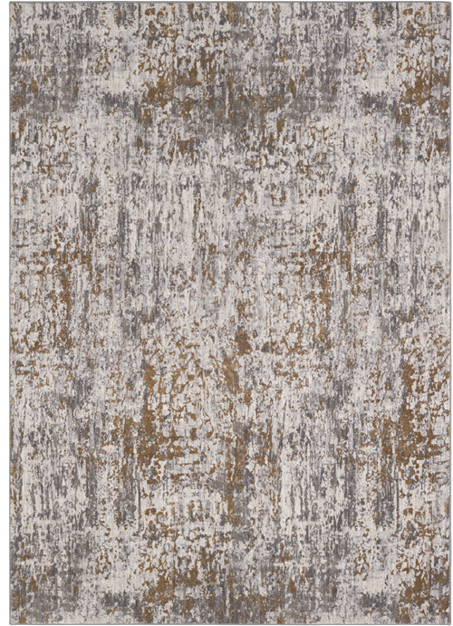 Karastan Smokey Gray Rug Enigma Spectral Brushed Gold