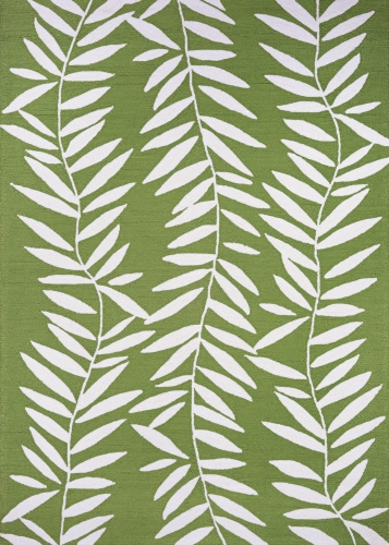 couristan covington bamboo leaves lime