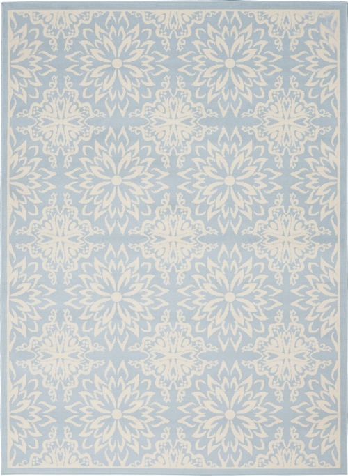 nourison jubilant jub06 ivory/light blue