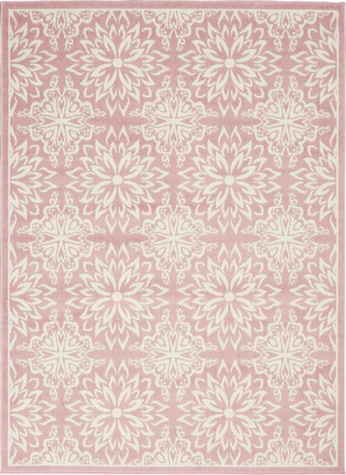 nourison jubilant jub06 ivory/pink