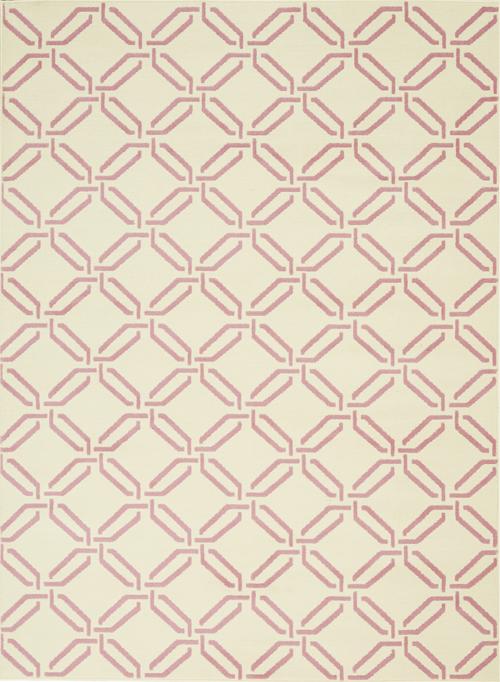 nourison jubilant jub17 ivory/pink