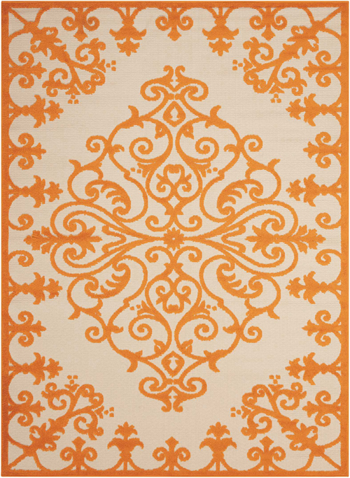 nourison aloha alh12 orange