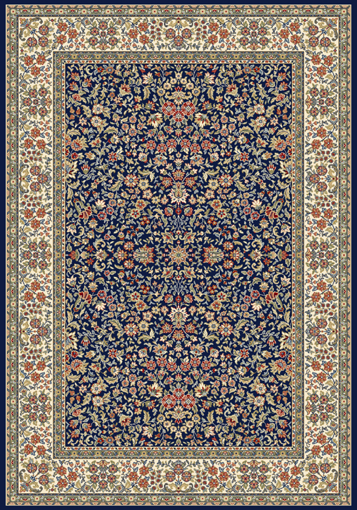 dynamic ancient garden 57078 blue/ivory