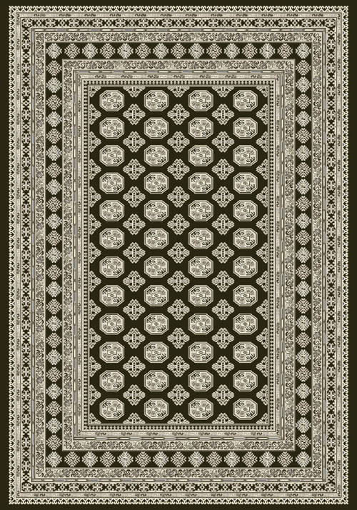 Dynamic ANCIENT GARDEN 57102 CHARCOAL/SILVER Rug