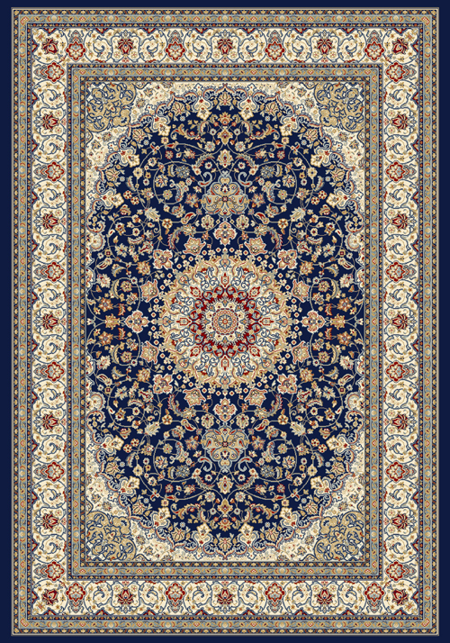 Dynamic ANCIENT GARDEN 57119 BLUE/IVORY Rug