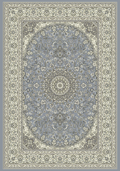 dynamic ancient garden 57119 steel blue/cream