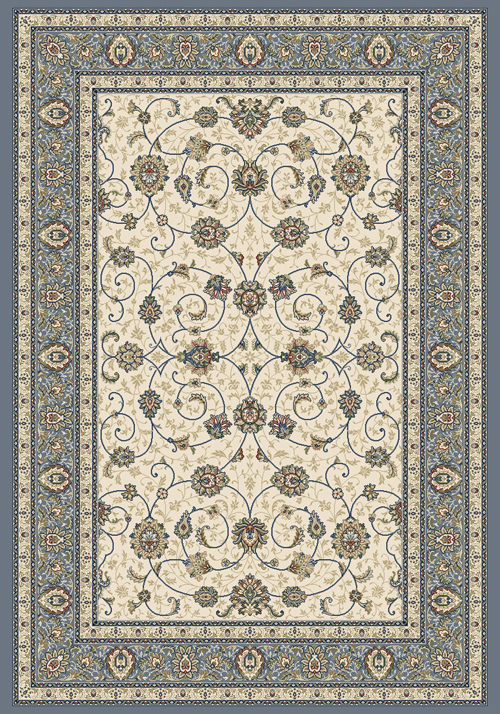 Dynamic ANCIENT GARDEN 57120 IVORY/LIGHT BLUE Rug