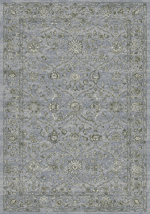 Dynamic ANCIENT GARDEN 57136 STEEL BLUE/CREAM Rug