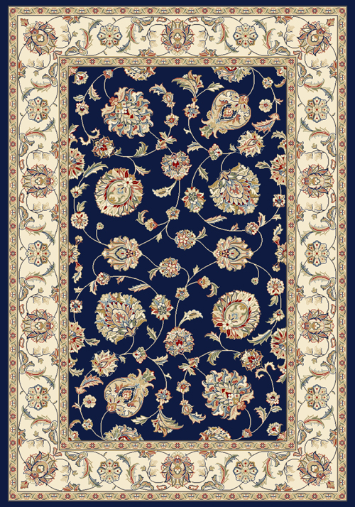 dynamic ancient garden 57365 blue/ivory