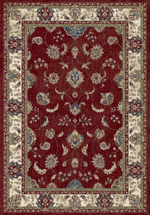 Dynamic ANCIENT GARDEN 57158 RED/IVORY Rug