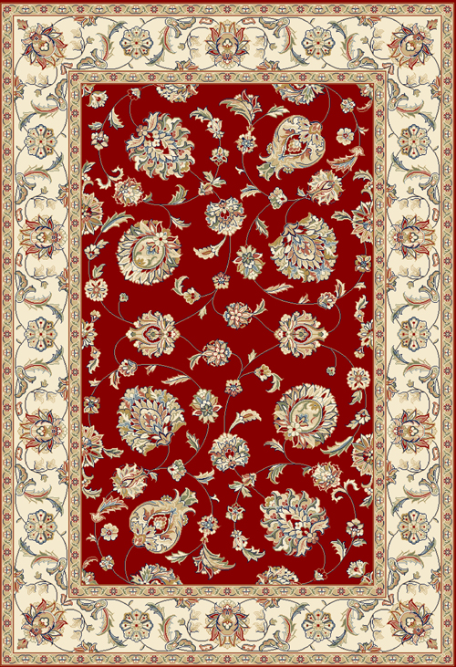 dynamic ancient garden 57365 red/ivory