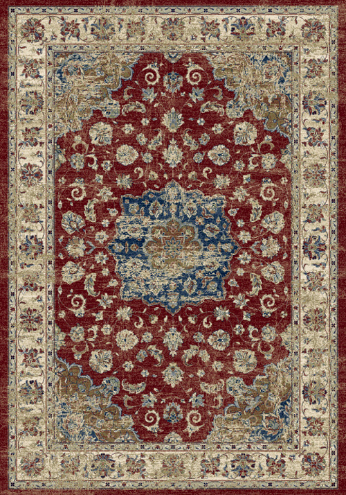 Dynamic ANCIENT GARDEN 57559 RED/IVORY Rug
