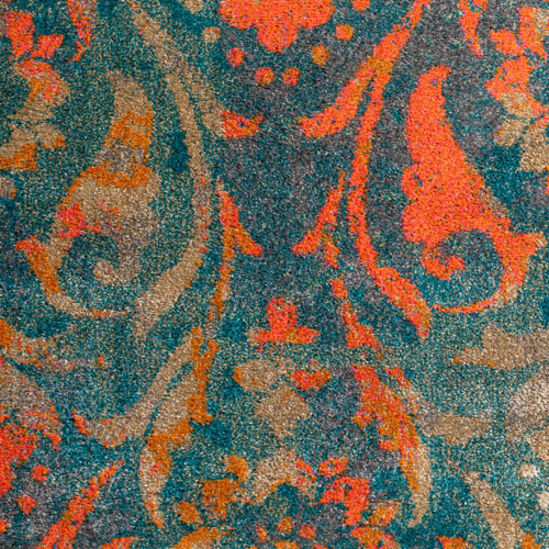 Dalyn Antiquity AQ160 Teal Detail