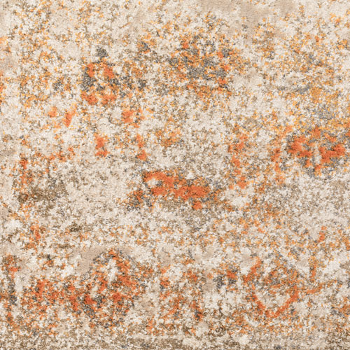 Dalyn Antiquity AQ1 Tangerine Detail