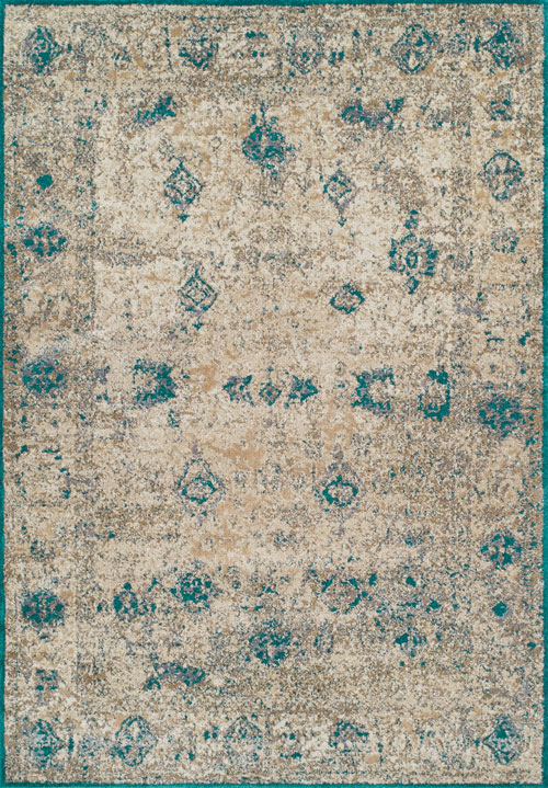 Dalyn Antiquity AQ1 Teal Rug