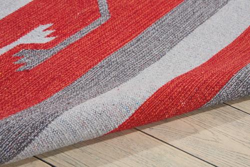 Nourison BAJA BAJ01 GRY/RED Detail
