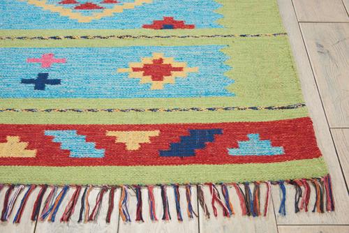 Nourison BAJA BAJ02 BLUE GREEN Detail