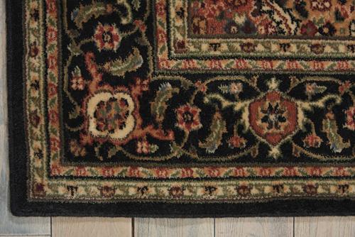 Nourison PERSIAN ARTS BD03 BLACK Detail