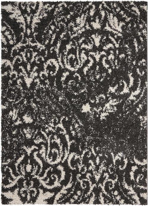 nourison brisbane bri09 black/white