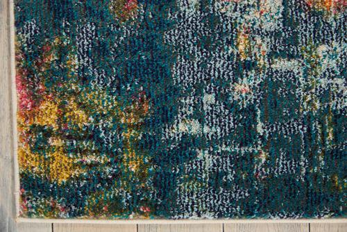 Nourison CELESTIAL CES09 BLUE/YELLOW Detail