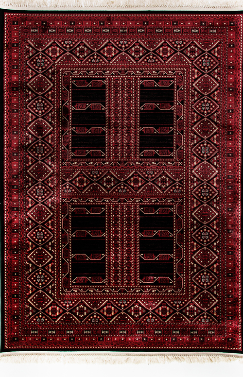 Dynamic CROWN 16232 RED/BLACK Rug