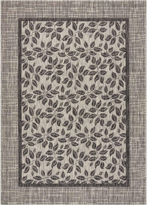 nourison country side ctr01 ivory/charcoal