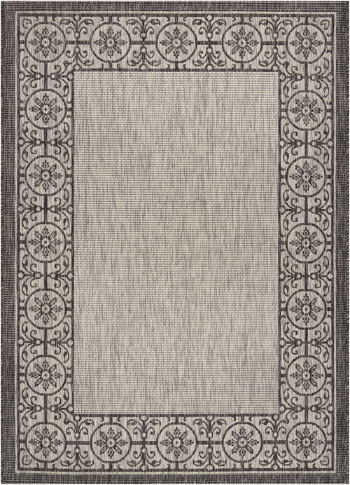 nourison country side ctr03 ivory/charcoal