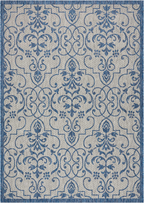 nourison country side ctr04 ivory blue