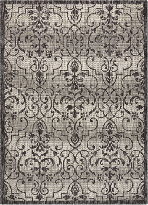 nourison country side ctr04 ivory/charcoal
