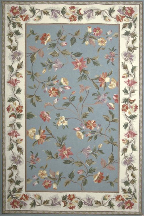 kas colonial 1728 slate blue/ivory