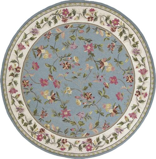 Kas Colonial 1728 Slate Blue/Ivory Detail